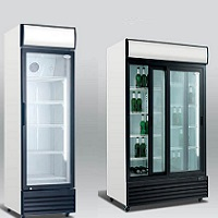 Refrigerated cabinets with glass doors